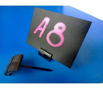 Меловая табличка-ценник А8 прямой угол