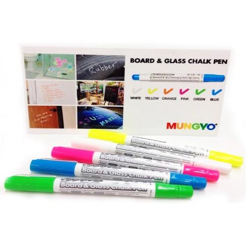 Купить меловой маркер CHALK PEN Mungyo белый,цветной для чёрной таблички,ценника в Москве оптом
