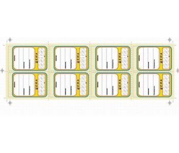 Ценник картон Овал 8